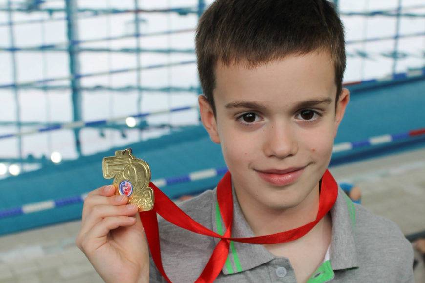 Prvo takmičenje i prva medalja za Bonatti Swimming plivački klub